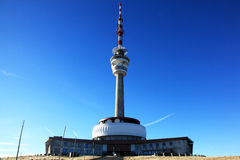 Transmitter. The transmitter and tower in the mountains Royalty Free Stock Photography