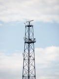 Transmitter tower. radar Royalty Free Stock Photo