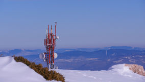Transmitter tower royalty free stock photography