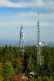Transmitter towers Stock Images