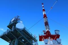 Transmitting antenna. On Schoeckl at Graz, Austria Royalty Free Stock Photos