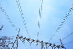 Transmitting cable. Of Power tower Royalty Free Stock Photography