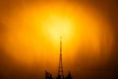 Transmitting Station at sunrise Royalty Free Stock Photos