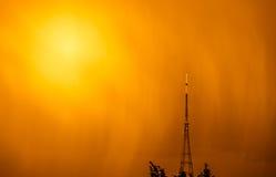 Transmitting Station at sunrise. The high Crystal Palace transmitting station at sunrise, Bromley, London, UK Stock Images