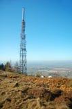 Transmitting tower. The telecommunications transmitting tower on the Wrekin in Shropshire, England Royalty Free Stock Photo