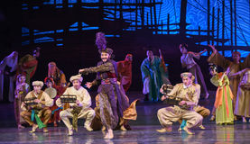 "Transnational businessman Hamadi-Dance drama ""The Dream of Maritime Silk Road"". Dance drama ""The Dream of Maritime Silk Road"" centers on the plot of two Royalty Free Stock Images"