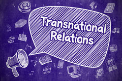 Transnational Relations - Business Concept. Stock Photos