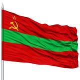 Transnistria Flag on Flagpole Stock Photo