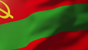 Transnistria flag waving in the wind. Looping sun. Transnistria flag waving in the wind. Loops sun rises style stock video