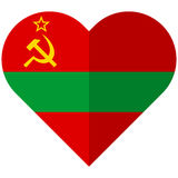 Transnistria flat heart flag Stock Image