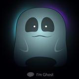 Transparência muito bonito do caráter do catoon de Ghost para Fotos de Stock Royalty Free