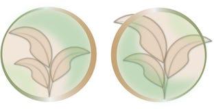 Transparant bladerenembleem royalty-vrije illustratie