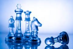 Transparant blauw schaak Royalty-vrije Stock Fotografie