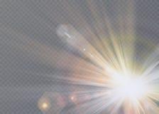 Transparant de flits lichteffect van de zonlicht speciaal lens de voorflits van de zonlens Royalty-vrije Stock Foto
