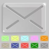 Transparant enveloppictogram Stock Fotografie