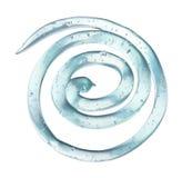 Transparant gel in de vorm van een spiraal stock foto's