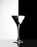 Transparant Glas met vloeistof Stock Foto