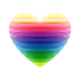 Transparant hart stock illustratie