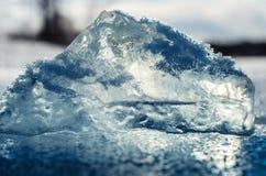 Transparant ijs. Stock Foto's
