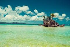 Transparant ondiep water Reis naar Filippijnen De vakantie van de de zomerluxe Het eiland van het Boracayparadijs Wit Strand Seav stock afbeelding