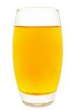Transparante appelen die in glas vallen Royalty-vrije Stock Foto
