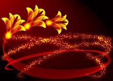 Transparante bloem royalty-vrije illustratie