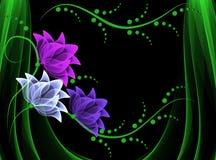 Transparante bloemen royalty-vrije illustratie