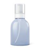 Transparante fles met spuitbus vector illustratie