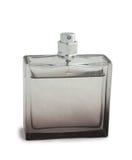 Transparante fles parfum Stock Fotografie