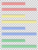 Transparante gekleurde heersers vectorillustratie Stock Foto's