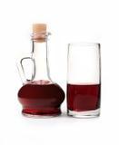 Transparante glaskruik met een drank Royalty-vrije Stock Afbeeldingen