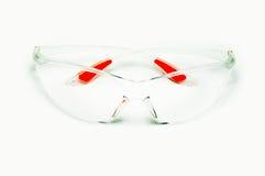Transparante glazenveiligheid op het werk Stock Afbeelding