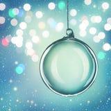 Transparante Kerstmisbal stock illustratie