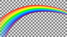 Transparante kleurrijke regenboog in perspectief Vector illustratie stock illustratie