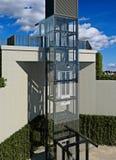 Transparante lift Externe lift Royalty-vrije Stock Foto