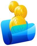 Transparante omslag met geld Royalty-vrije Stock Afbeeldingen