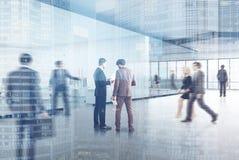 Transparante open bureau zijmensen Royalty-vrije Stock Fotografie