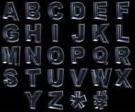 Transparante x-ray brieven 3d Royalty-vrije Stock Afbeeldingen