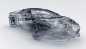 Transparante sportwagen Stock Afbeelding