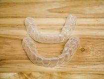 Transparante tandpal of duidelijke pal stock foto