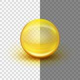 Transparante zachte gelcapsule Eps 10 royalty-vrije illustratie