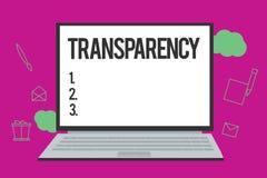 Transparencia conceptual de la demostración de la escritura de la mano Condición del texto de la foto del negocio que es evidente libre illustration