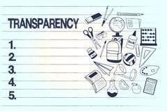 Transparencia conceptual de la demostración de la escritura de la mano Condición del texto de la foto del negocio que es evidente ilustración del vector