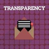 Transparencia de la escritura del texto de la escritura Condición del significado del concepto que es translúcido evidente obvio  libre illustration