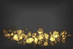 Transparencia de oro abstracta del fondo del bokeh Imágenes de archivo libres de regalías