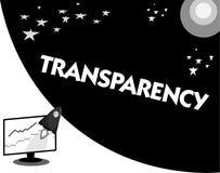 Transparencia de texto de la escritura de la palabra Concepto del negocio para la condición que es translúcido evidente obvio cla libre illustration