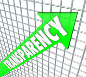 Transparency Arrow Openness Business Straightforward Message Stock Photography