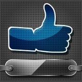 Transparency Blue Like Symbol Royalty Free Stock Photos
