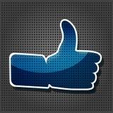 Transparency Blue Like Symbol Stock Photography