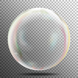 Transparency Bubble. Soap Or Underwater Or Water Bubble. Vector Illustration On Gray Background. Transparent Soap Bubble. Realistic Vector Illustration. Air Stock Photo